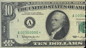 1963 10 Dollar Federal Reserve Note