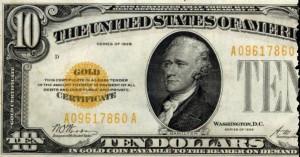 1928 10 Dollar Gold Certificate