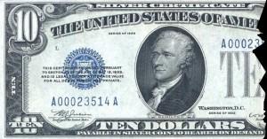 1933 10 Dollar Silver Certificate